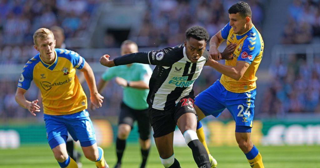 Newcastle 2-2 Southampton